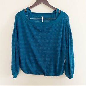 NWT Free People Sistine Cold Shoulder Hacci top